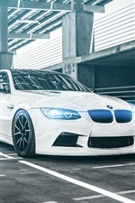 Preview iPhone wallpaper BMW M3 E92 Coupe white car
