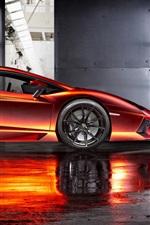 Preview iPhone wallpaper Beautiful supercar, Print Tech Lamborghini Aventador