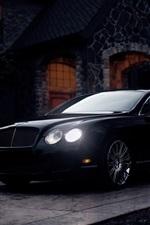 Bentley Continental GT black supercar at twilight