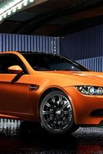 Bmw M3 E92 Coupe orange sport car, Pure Edition II