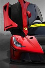 Preview iPhone wallpaper DMC LaFerrari FXXR supercar doors is opened