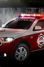 Preview iPhone wallpaper Dodge Durango fire rescue red car for 911