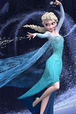 Preview iPhone wallpaper Frozen, beautiful girl Elsa