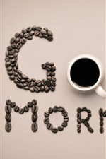 iPhone壁紙のプレビュー おはよう、コーヒー、カップ