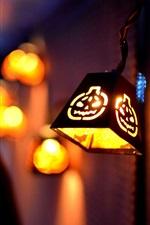 Halloween lights at night
