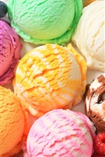 Preview iPhone wallpaper Ice cream, dessert, sweet food, colorful