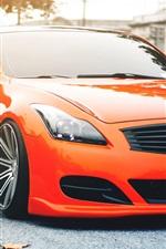 iPhone fondos de pantalla Infiniti G35 naranja coche