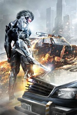 Preview iPhone wallpaper Metal Gear Rising: Revengeance, game wide