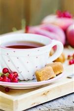 Preview iPhone wallpaper Morning tea, red berries