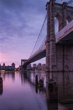 Preview iPhone wallpaper New York, USA, Brooklyn Bridge