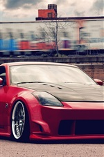 Preview iPhone wallpaper Nissan 350Z red color supercar