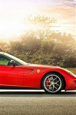 Preview iPhone wallpaper Red Ferrari 599 GTO sports car