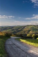Preview iPhone wallpaper Road, farm, countryside, summer, blue sky