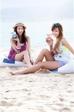Preview iPhone wallpaper SISTAR beautiful girls at beach