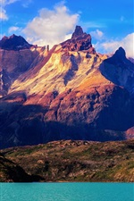 Preview iPhone wallpaper South America, Chile, the National Park Torres del Paine, mountains, lake