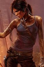 Tomb Raider, Lara Croft, jogo para PC, noite, arco