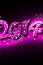 Preview iPhone wallpaper 2014 Happy New Year, purple style