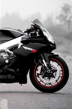 Preview iPhone wallpaper Aprilia motorcycle, black