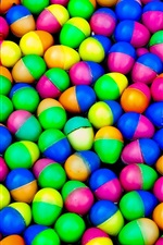 Preview iPhone wallpaper Colorful plastic eggs
