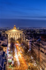 Preview iPhone wallpaper France, Paris, Provinces Opera, buildings, house, night lights