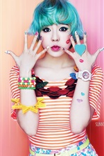 Preview iPhone wallpaper Girls Generation, Sunny, blue hair
