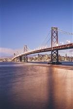 Golden Gate Bridge, San Francisco, California, USA, city, river