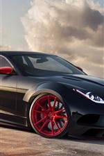iPhone fondos de pantalla Jaguar X-C16 concept car negro