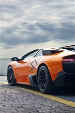Lamborghini Murcielago LP670-4 SV laranja supercarro