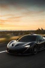 Preview iPhone wallpaper McLaren P1 black supercar
