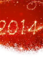 Preview iPhone wallpaper New Year 2014, Christmas, red style