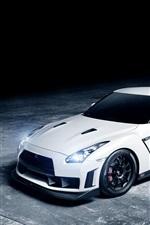 Nissan GTR 1013MM white car