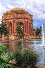 Preview iPhone wallpaper San Francisco, The Palace of Fine Arts