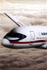 Preview iPhone wallpaper Sukhoi Superjet 100 aircraft
