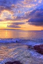 Preview iPhone wallpaper Sunset at Secret Beach, Maui, Hawaii, USA
