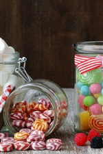 Preview iPhone wallpaper Sweet food, candy, marshmallow, jelly, sugar, berries