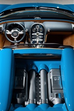 Top view blue Bugatti Veyron 16.4 supercar