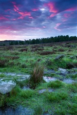Preview iPhone wallpaper UK, England, Derbyshire, national park, sunset, sky, clouds