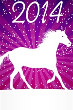 Preview iPhone wallpaper 2014 New Year, horse, winter, vector