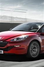 미리보기 iPhone 배경 화면 2014 푸조 RCZ R 빨간 자동차