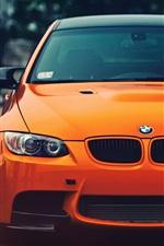 BMW M3 orange car front view