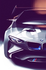 Preview iPhone wallpaper BMW concept car, art drawing