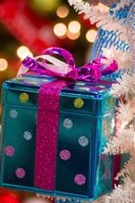 미리보기 iPhone 배경 화면 크리스마스 선물 상자, 조명