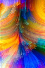 Preview iPhone wallpaper Colorful lines, brightness, curves, abstract