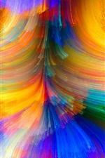 미리보기 iPhone 배경 화면 화려한 라인, 밝기, 곡선, 추상
