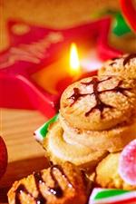 iPhone обои Печенье, конфеты, фары, Рождество, Новый год