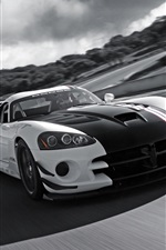 Dodge Viper SRT-10 supercar na velocidade