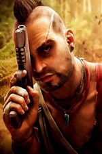 Preview iPhone wallpaper Far Cry 3, pistol, jungle