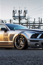 Preview iPhone wallpaper Ford Shelby Mustang GT500 supercar