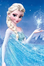 Preview iPhone wallpaper Frozen, Disney 2013 movie, Princess Elsa