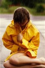 Girl at rainy street